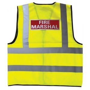 Fire Marshall Hi-viz Reflective Waistcoat