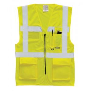 Deluxe Waistcoat c/w Pockets Yellow