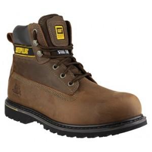 CAT Holten Dark Brown Safety Boot