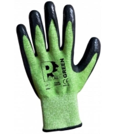Predator Green PU Coated Cut 5 Glove